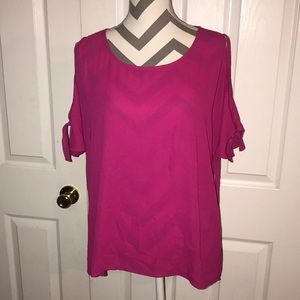 CHAUS New York Cold Shoulder Top L
